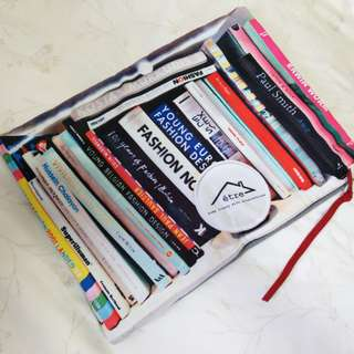 être時髦品味Vivienne Westwood Fashion Paul Smith 書籍布質手拿包可裝筆電ipad