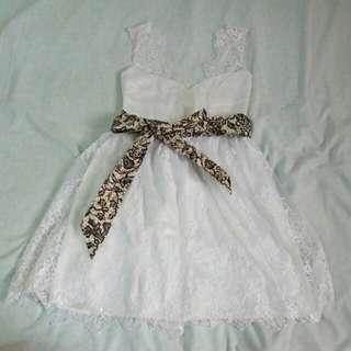 Dress putih custom cantik