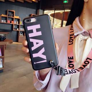 HAY! Korean Fashion Soft Silicon iPhone Case with Lanyard