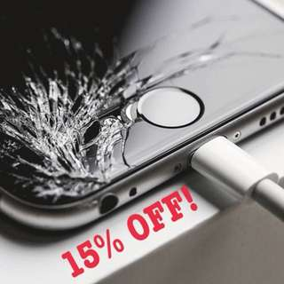 15% OFF! FOR ALL IPHONE REPAIR! PM US TODAAY