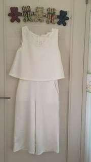 Basic Jumpsuit white