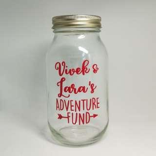 Customised Coin Jar /mason jar