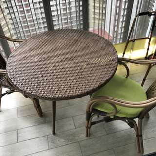 Outdoor Table (with 2 chairs)