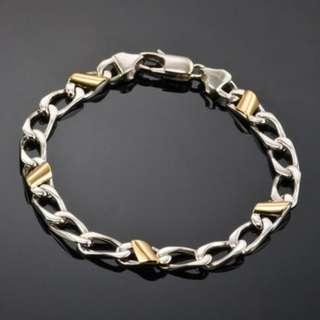 Tiffany & Co Cuban Link 18K/Silver Bracelet