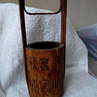 古舊竹筒兩層盒