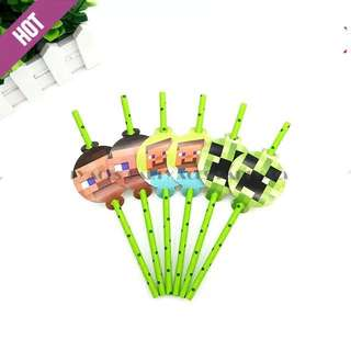 💥Minecraft Party Supplies - party deco / candy bar deco / straws