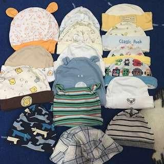 17pcs Baby bonnet