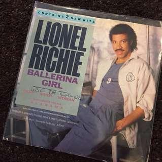 "1986 Lionel Richie - Ballerina Girl (7"" Vinyl Record )"