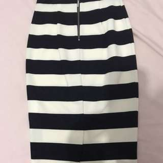Forever new striped  high waisted skirt