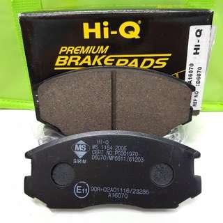 HI-Q BRAKE PAD FRONT for PROTON SAGA 12VALVE ISWARA WIRA 1.3,1.5