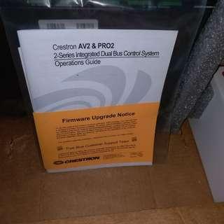Crestron AV2 全新,不連network卡