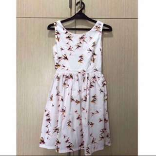 Chic Simple Dress Motif Birds