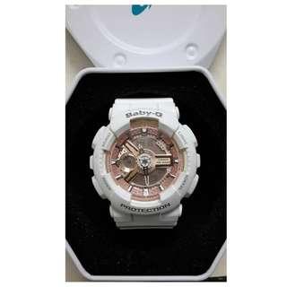 Casio Baby-G 手錶 M:5338 女裝 白色 粉紅色