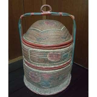 Rustic Vintage Chinese Peranakan Wedding Cane Basket