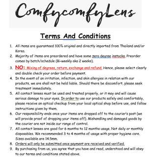 T&C for Ordering with US