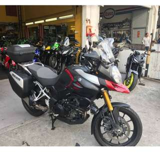Suzuki VSTROM 1000 2014 D/P $500 or $0 With out insurance (Terms and conditions apply. Pls call 67468582 De Xing Motor Pte Ltd Blk 3006 Ubi Road 1 #01-356 S 408700.