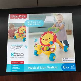 *New* Fisher Price Musical Lion Walker