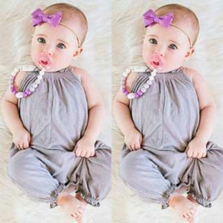 🍀Baby Girl Sleeveless Jumpsuit🍀