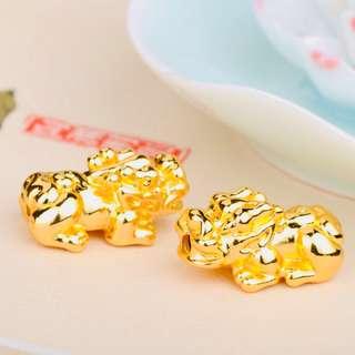 万大福黄金貔貅配件 24k Gold Pixiu accessories S size [READY STOCK] [WHOLESALE PRICE]