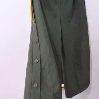 Celana Kulot Panjang Warna Hijau Army