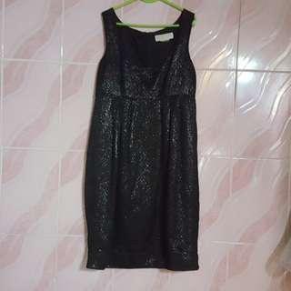 michael kors metallic jacquard sleeveless dress