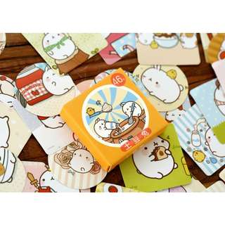 [Instock] 46 pcs Planner stickers / Scrapbook stickers #molang