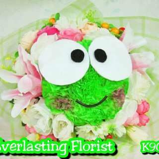 Bucket Keroppi (K901) Buket Bunga Boneka Bouquet Wedding Wisuda Engaged Proposed Valentine Kado Hadiah Unik