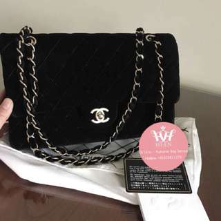 CHANEL CLASSIC MEDIUM BLACK VELVET