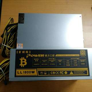 1800W PSU Bitcoin Ethereum Power Supply