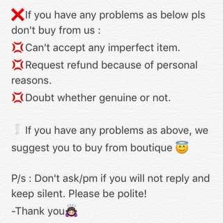Buyer pls take note