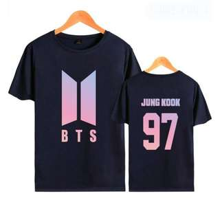 BTS T-Shirt BTS Bangtan Boys 2017 New Album LOVE YOURSELF Women Girls T-shirt (JUNG KOOK 97)
