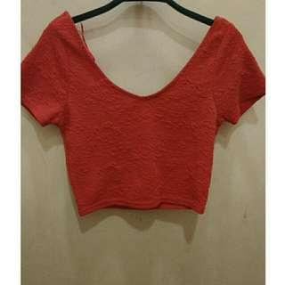 Preloved cotton on crop red