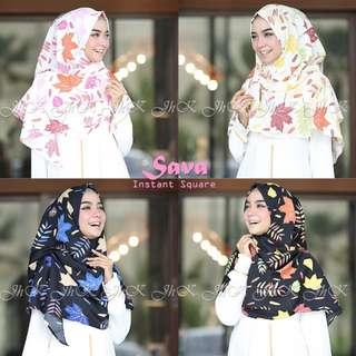 TERLARIS!!!! Sava instan square hijab wanita
