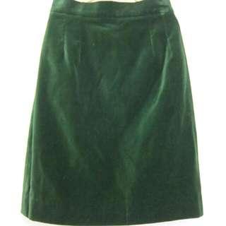 GIVENCHY 綠光絲絨窄裙