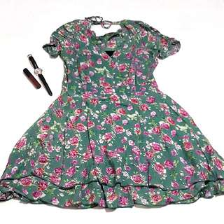 Korean inspired Floral a-line dress