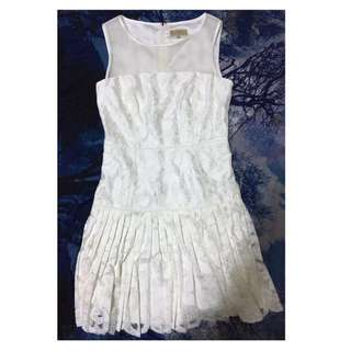 Ports white lace mini dress