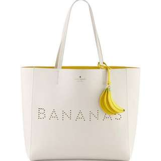 kate spade bananas leather tote bag