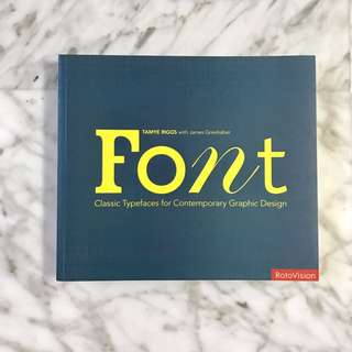 Font typography book - graphic design