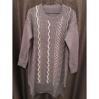Lavender color knit wear 薰衣草紫色長冷衫