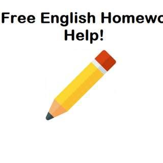 (FREE) English Homework Help!