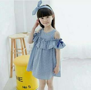 DRESS STRIPE SHOULDER KIDS