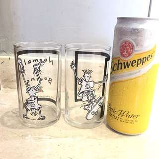 Fido Dido 7-Up Glasses