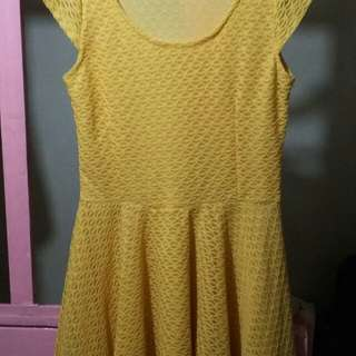 Knitted yellow dress