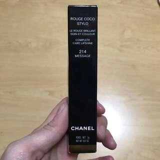 (NEW) Chanel Rouge xoxo Stylo lipshine #214 color