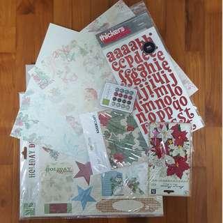 Christmas Scrapbook Supplies Bundle
