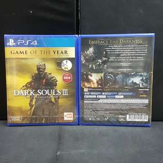 [BN] PS4 Dark Souls III The Fire Fades Edition (Brand New)
