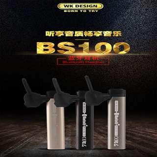 Instocks ✅ WK Design BS100 Bluetooth Earphone Headset