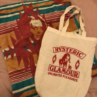 Hysteric Glamour 沙灘毛巾連tote bag