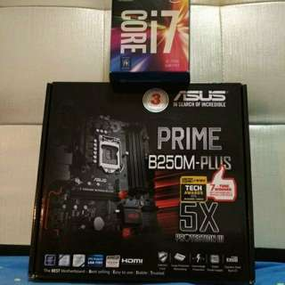 Core i7 7700 and Asus Prime B250M Plus | Motherboard & Processor combo