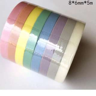 Thin faded colorful washi tape